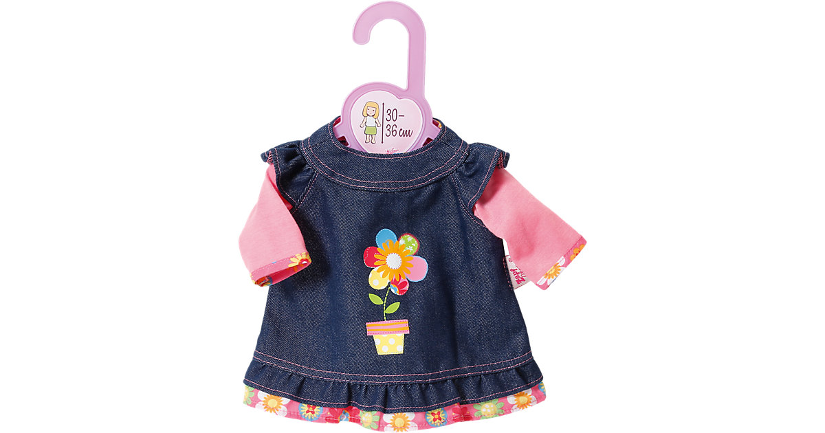 Dolly Moda Puppenkleidung Jeanskleid 30-36 cm