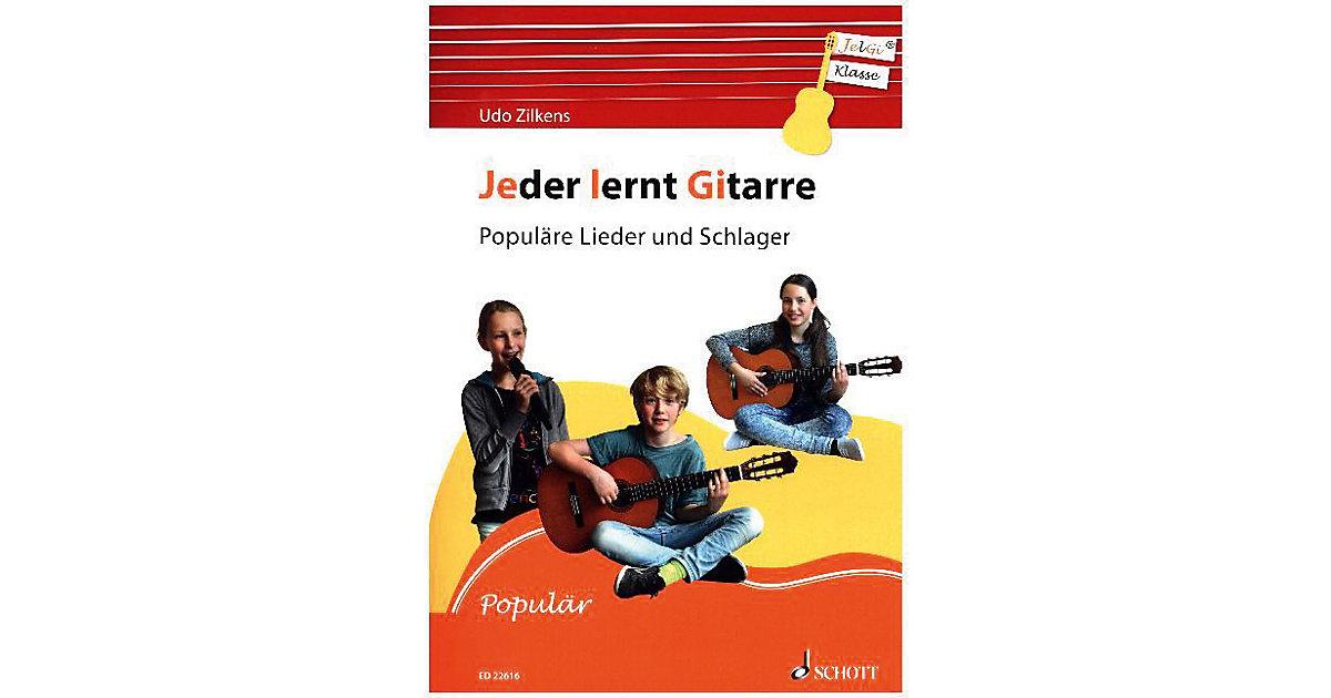 Jeder lernt Gitarre - Populäre Lieder und Schlager