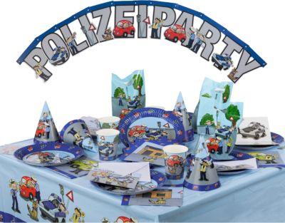 Partyset Polizei 68 tlg Amscan