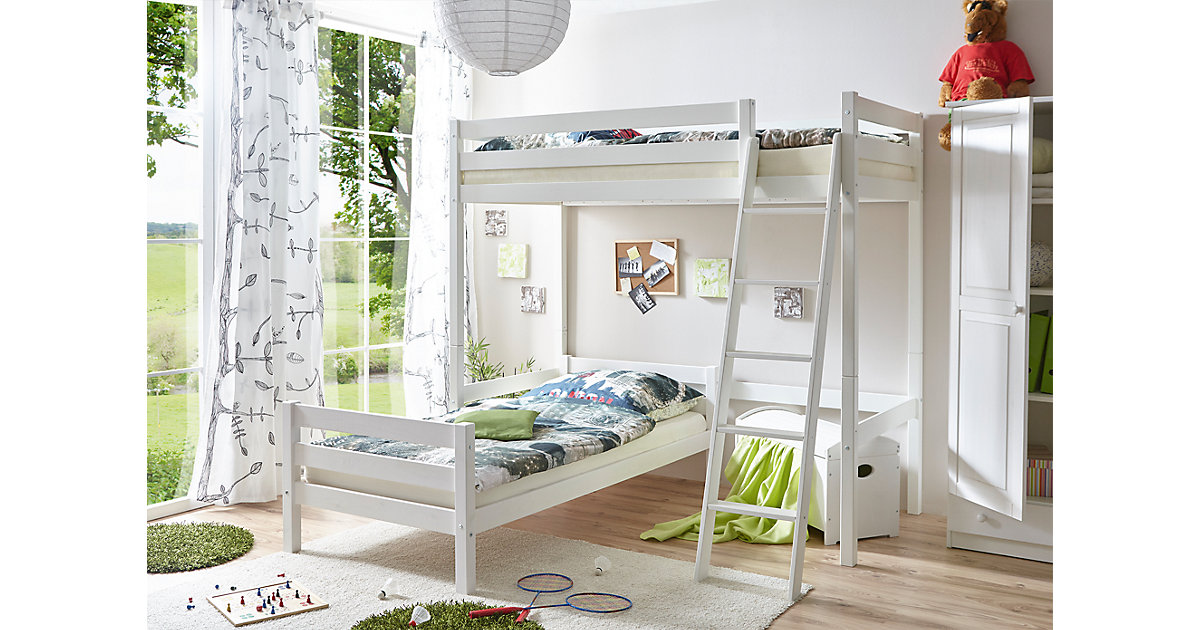 etagenbett l form simple bopita nordic etagenbett wei mit. Black Bedroom Furniture Sets. Home Design Ideas