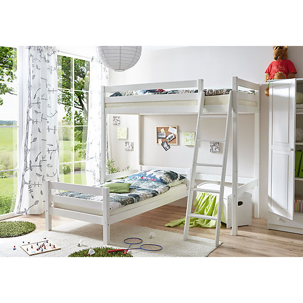 ticaa etagenbett interesting ticaa etagenbett kenny g schrgleiter buche massiv natur beigegrn. Black Bedroom Furniture Sets. Home Design Ideas