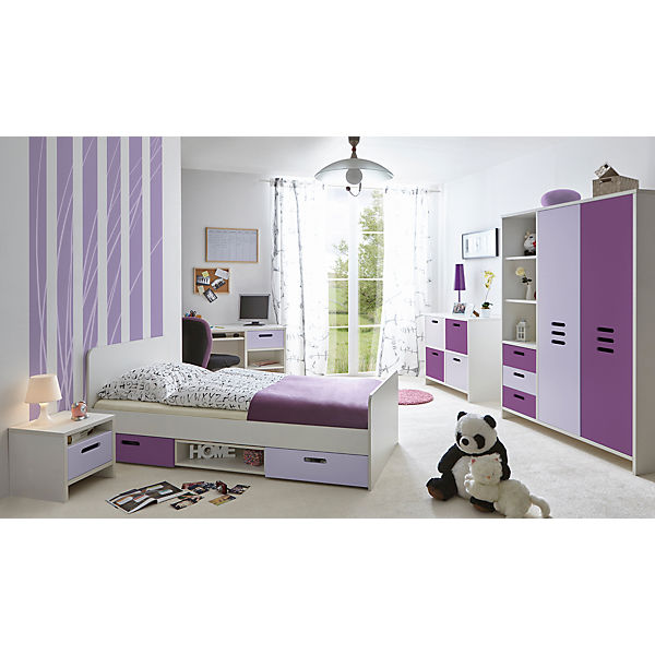 kinder und jugendzimmer clou 5 tlg lila ticaa mytoys. Black Bedroom Furniture Sets. Home Design Ideas