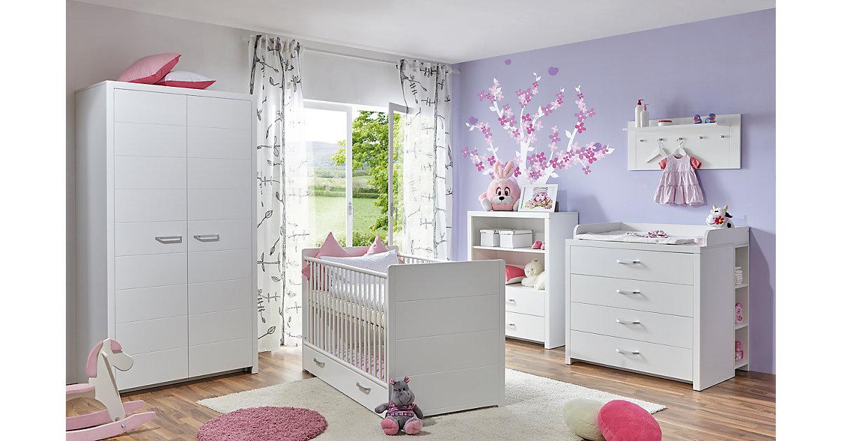 TICAA · Komplett Babyzimmer Mia, 5-tlg., weiß Gr. 70 x 140