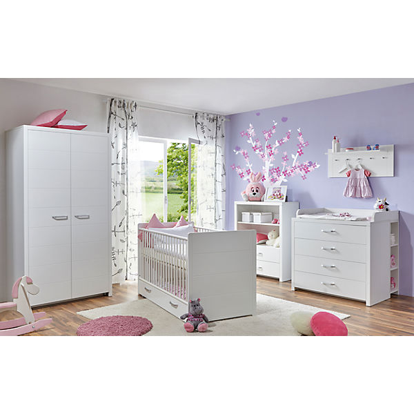 komplett babyzimmer mia 5 tlg wei ticaa mytoys. Black Bedroom Furniture Sets. Home Design Ideas