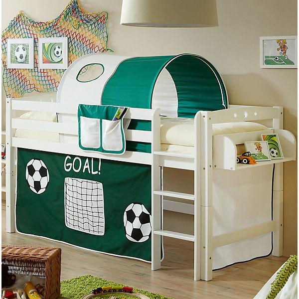 hochbett timmy r buche massiv wei fu ball 90 x 200 cm ticaa mytoys. Black Bedroom Furniture Sets. Home Design Ideas