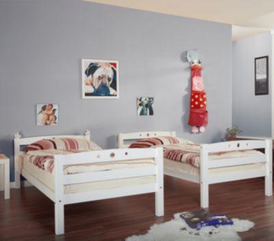 ... Weiß Etagenbett Oliver R, Extra Hoch, Buche Massiv, Weiß 2