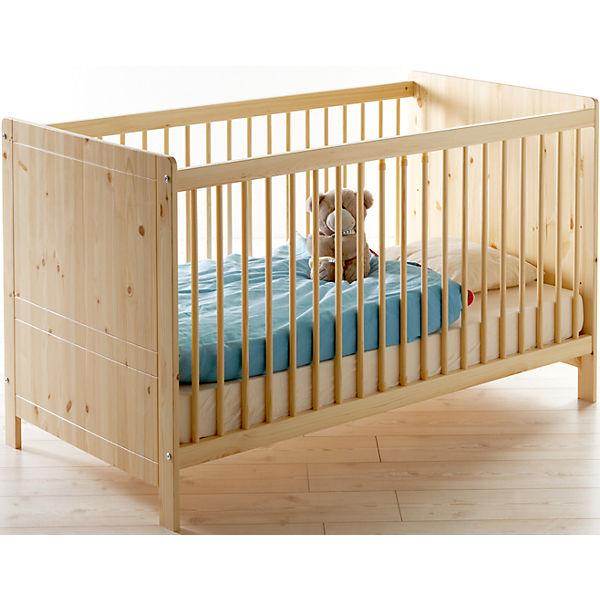 kinderbett moritz kiefer massiv natur 70 x 140 cm ticaa mytoys. Black Bedroom Furniture Sets. Home Design Ideas