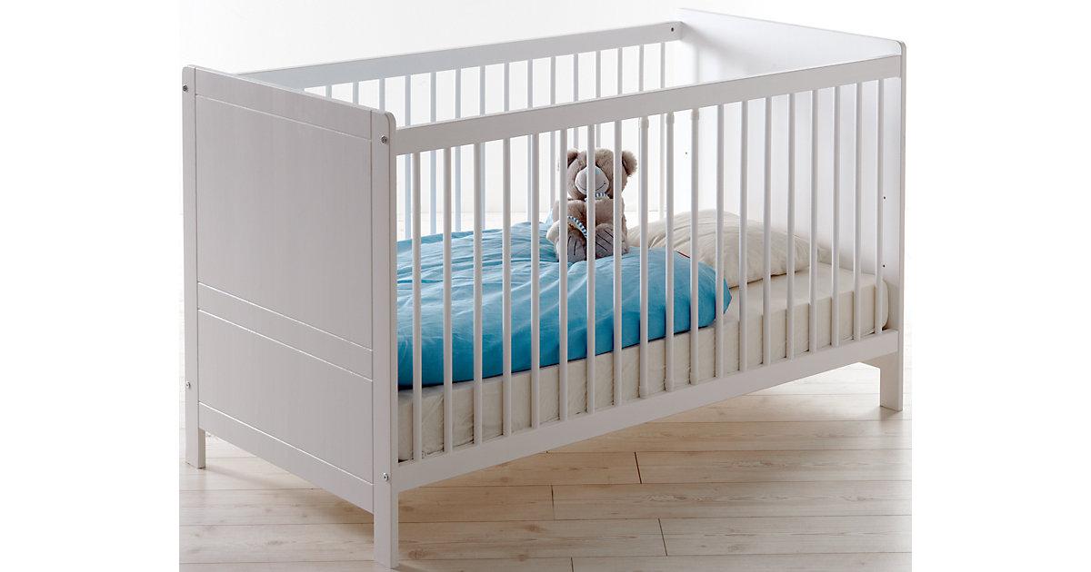 Ticaa Baby Gitterbett Moritz Kiefer Weiß weiß Gr. 70 x 140