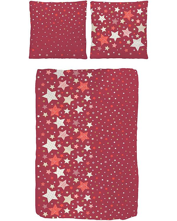 Kinderbettwasche Sterne Rot Biber 135 X 200 Cm Mytoys