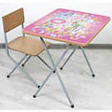 Комплект детской мебели Алфавит, Фея,  розовый