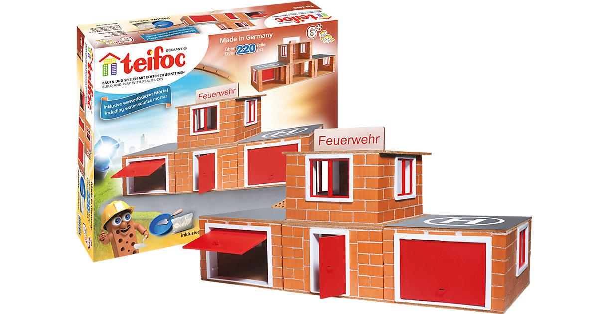 Teifoc Steinbaukasten Feuerwehr-Station