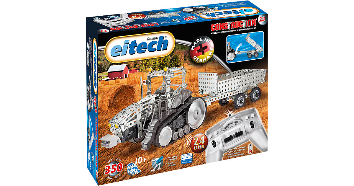 eitech Metallbaukasten 2.4 GHZ RC Traktor mit A...