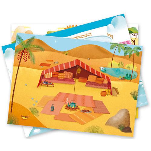 """Набор с переводными наклейками """"Саванна, пустыня, Северный полюс"""" от DJECO"""