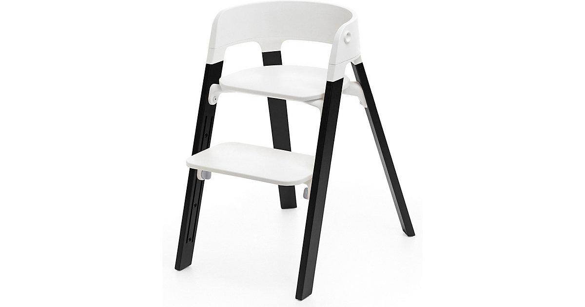 Stokke · Steps™ Hochstuhl, Sitz white inkl. Beine Eichenholz, black