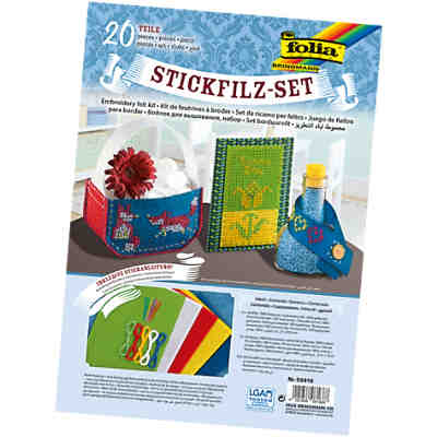 Stickfilz-Set, 20-tlg.