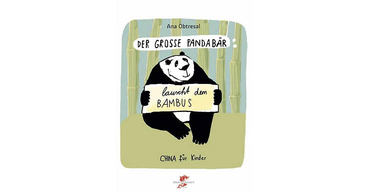 Der große Panda lauscht dem Bambus