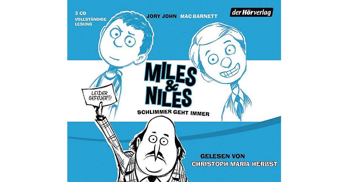 Miles & Niles: Schlimmer geht immer, 3 Audio-CDs