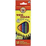 """Цветные карандаши """"Triocolor"""", 18 цв., KOH-I-NOOR"""