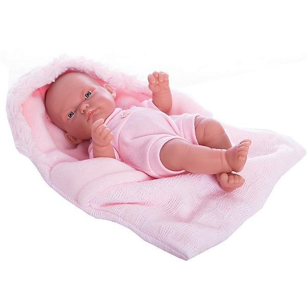 Кукла-младенец Карла в конверте, розовый, 26 см, Munecas Antonio Juan