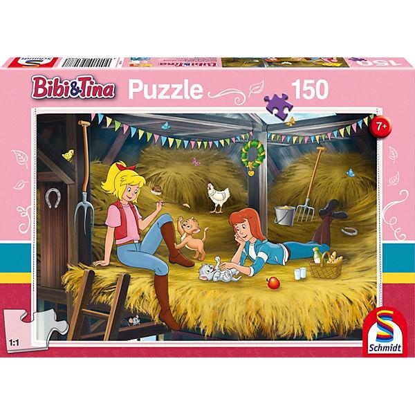 Puzzle 150 Teile Bibi & Tina, Auf dem Heuboden, Bibi und Tina