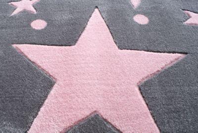 Kinderteppich rosa  Teppich, STAR rosa/silbergrau, 160 x 230 cm, Happy Rugs | myToys
