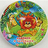 Набор тарелок Веселый праздник Львёнок и Черепаха, 6 штук