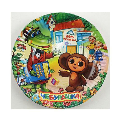 Набор тарелок Веселый праздник Чебурашка, 6 штук от Веселый праздник