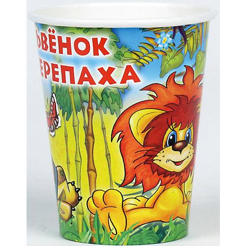Набор стаканчиков Веселый праздник Львенок и Черепаха, 6 штук от Веселый праздник