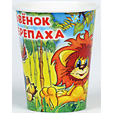 Набор стаканчиков Веселый праздник Львенок и Черепаха, 6 штук
