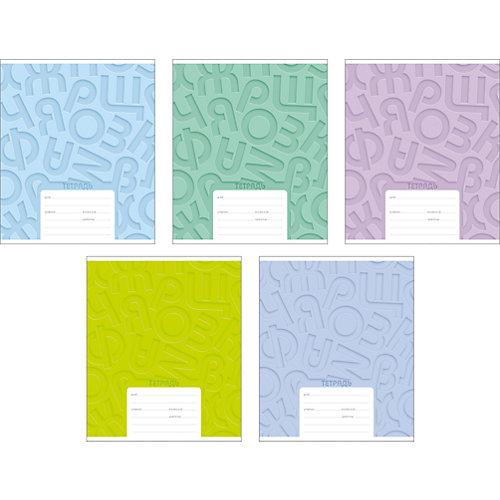Тетрадь ErichKrause Типографика буквы, 24 л, 10 шт, в линейку от Erich Krause