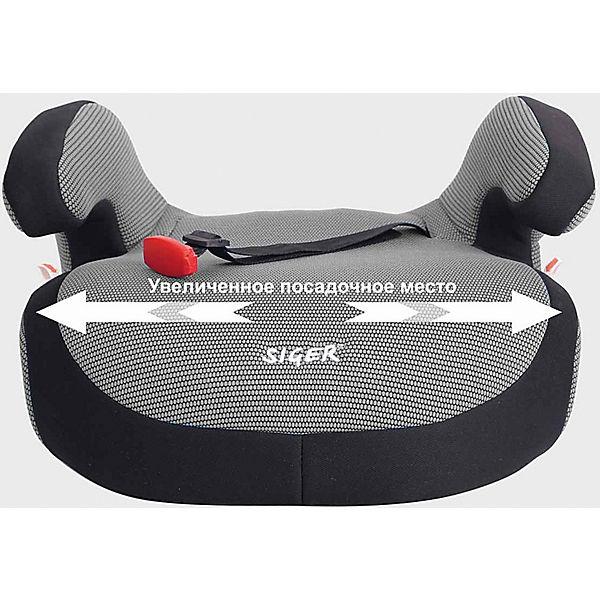 Автокресло-бустер Siger Fix 22-36 кг, серый