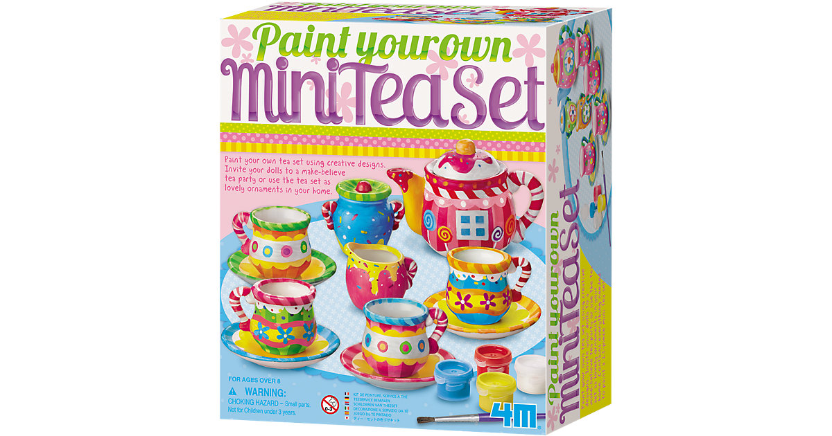 Foto 3 Kreativset Mini-Tee-Set (Paint your own Mini Tea Set)