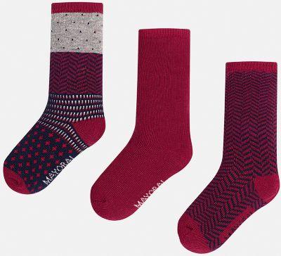 Комплект:3 пары носков для мальчика Mayoral - бордовый