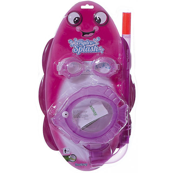 Набор для ныряния детский, морские животные, розовый, Bestway