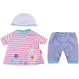 Одежда для куклы 36 см, my first Baby Annabell, в роз-белую полоску