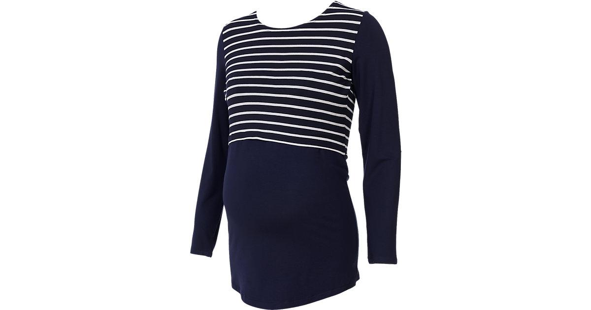 Stilllangarmshirt Catelyn, blau+weiß blau/weiß Gr. 36 Damen Kinder