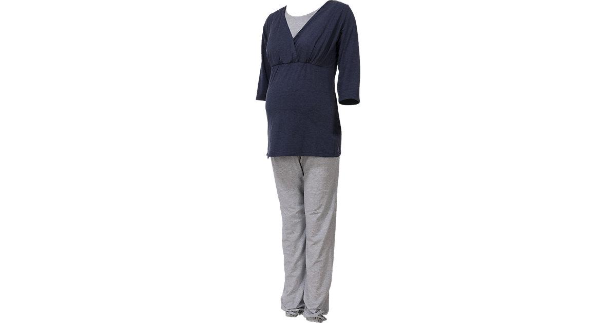 Bebefield · Umstandsschlafanzug Wellness, grau meliert Gr. 34/36 Damen Kinder