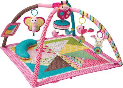 Deluxe Spieldecke mit Spielbogen, pink