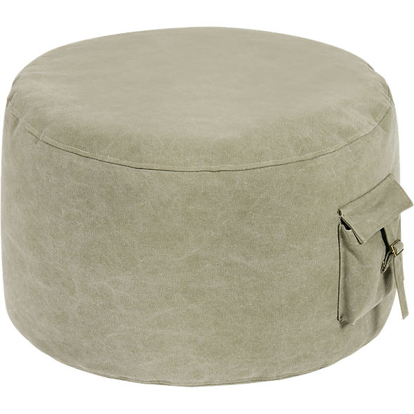 Sitzsack, Roll-pocket, canvas washed