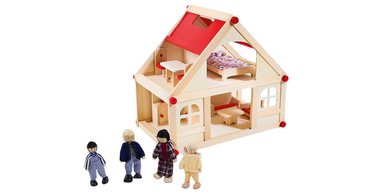 Puppenhaus mit Möbel und Puppen