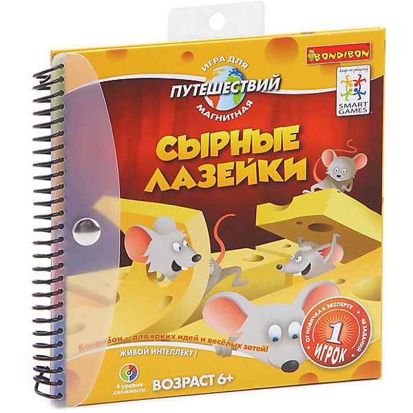"""Магнитная логическая игра для путешествий """"Сырные лазейки"""", Bondibon"""