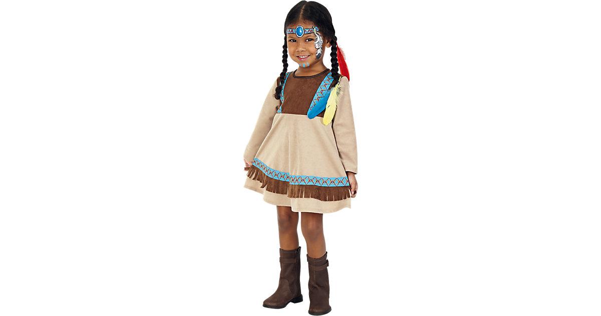 Kostüm Indianer Kleine Feder braun Gr. 98 Mädchen Kleinkinder