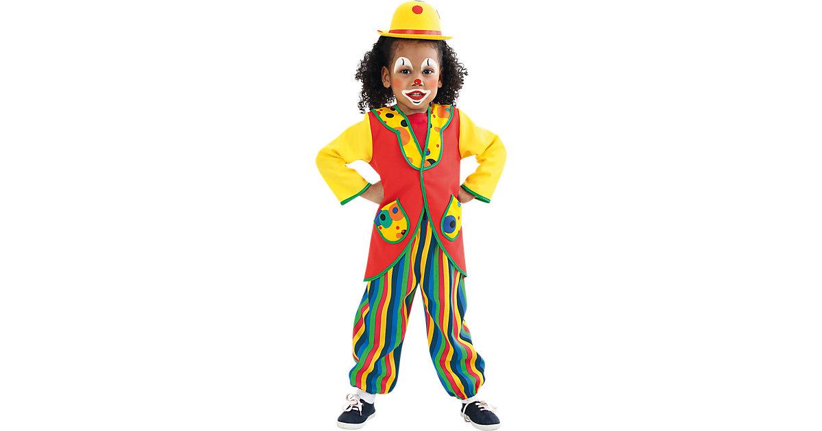 Kostüm Clown mehrfarbig Gr. 98