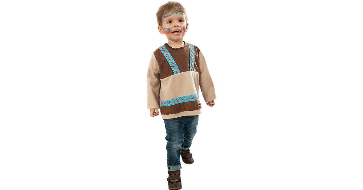 Kostüm Indianer Kleiner Bär braun Gr. 98 Jungen Kleinkinder