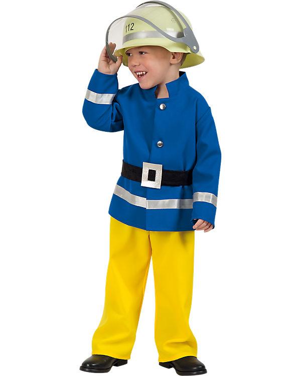 zu Füßen bei Markenqualität sehr bekannt Kostüm Feuerwehrmann, Kunterbunt