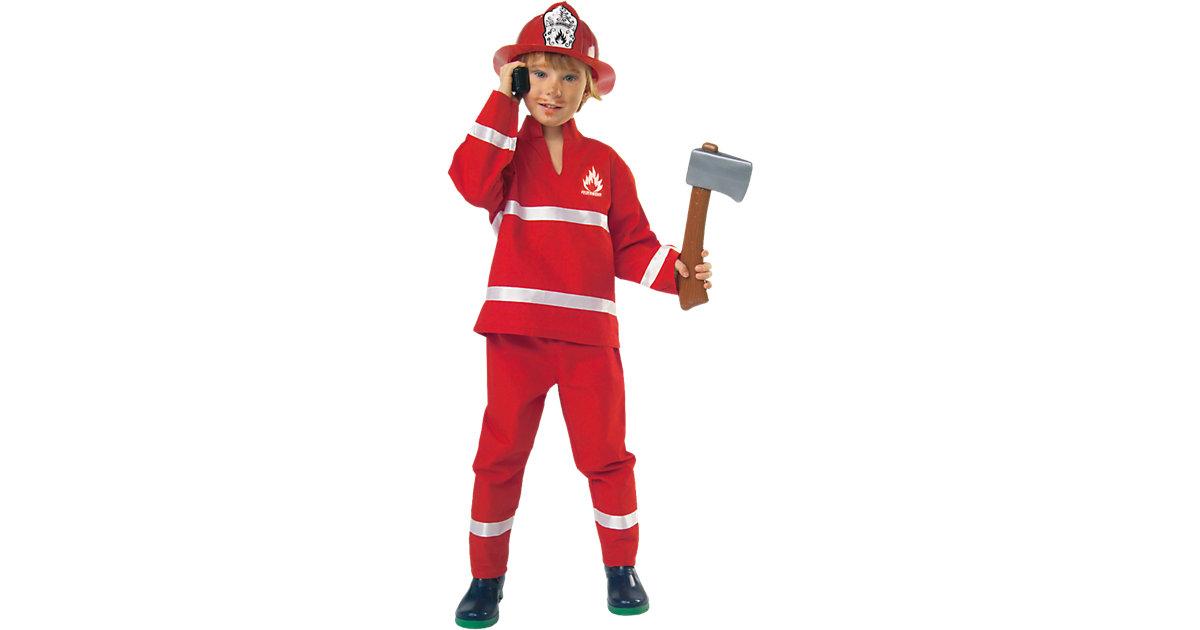 Kostüm Feuerwehrmann rot Gr. 116 Jungen Kinder