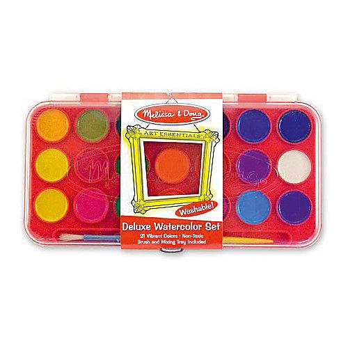 """Набор акварельных красок """"Делюкс"""", 21 цвет, Melissa & Doug от Melissa & Doug"""