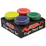 Пальчиковые краски, 4 цвета