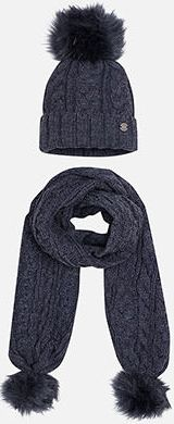 Комплект:шапка и шарф для девочки Mayoral - синий