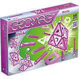 """Магнитный конструктор Geomag """"Pink"""",  68 деталей"""